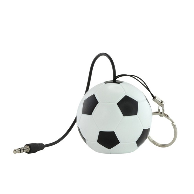 Тонколона KitSound Mini Buddy Football, 1.0, 2W, USB, черно-бяла, вградена Li-Ion батерия image