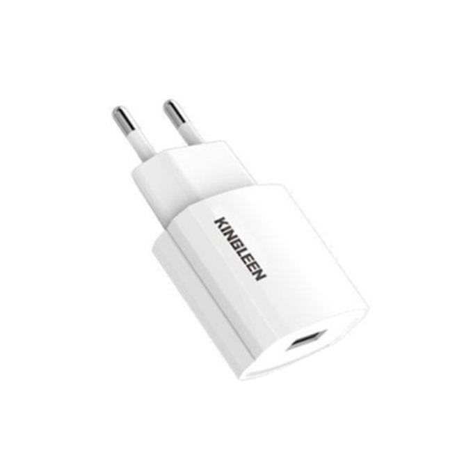 Зарядно устройство Kingleen C850E, от контакт към 1x USB Type A(ж), 5V/2.1A, бяло image