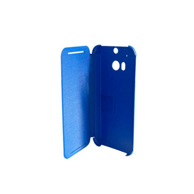 Калъф за HTC One 2 (M8), отваряем, кожен, HTC flip case, син image