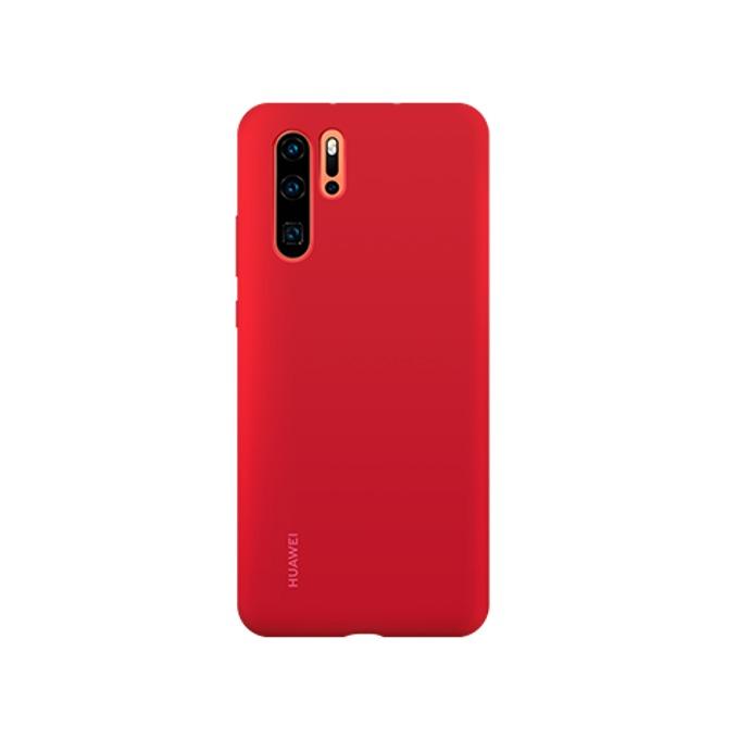 Калъф за Huawei P30 Pro, Vogue, магнитен, силиконов, червен image