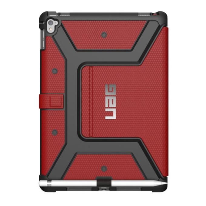 Поликарбонатов Протектор Urban Armor Gear Folio, удароустойчив, за iPad Pro 9.7, червен image