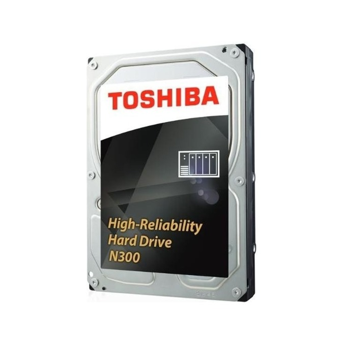"""Твърд диск 10TB Toshiba N300 NAS, SATA 6Gb/s, 7200 rpm, 256MB, 3.5"""" (8.89cm), Bulk image"""
