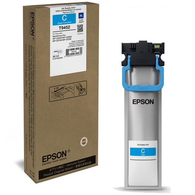 Мастило за Epson DURABrite™ Ultra, T9454, Singlepack - Cyan - 38.1ml image