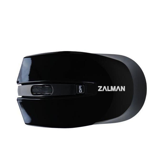 Мишка Zalman ZM-M520W, оптична (1600 dpi), безжична, Bluetooth, USB, черна image