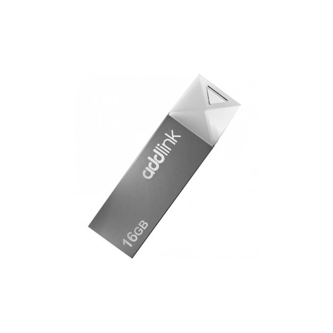 Памет 16GB USB Flash Drive, Addlink U10, USB 2.0, сребриста image