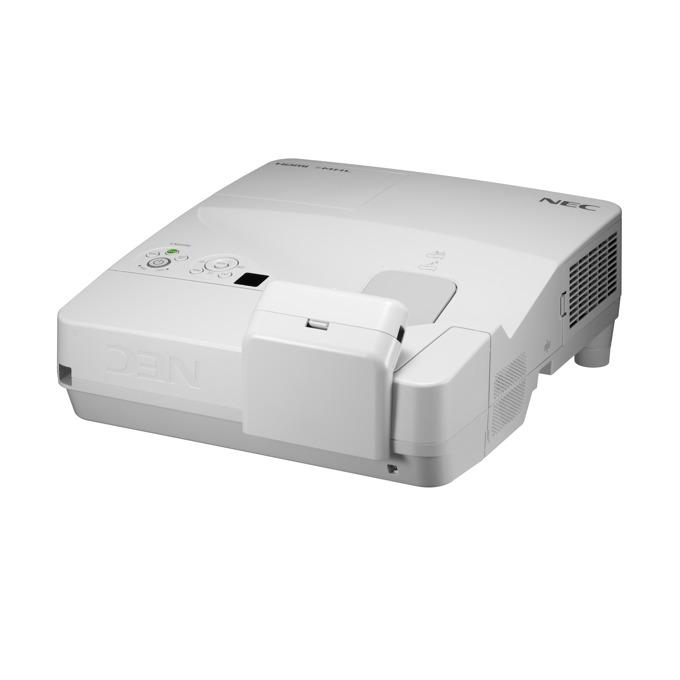 Проектор NEC UM301Wi-MP, LCD, WXGA (1280x800), 6000:1, 3000 lm, VGA, HDMI, RS232, RCA, USB, LAN, бял image