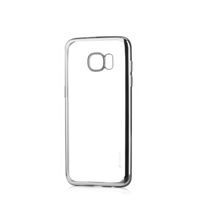 Силиконов протектор за Samsung Galaxy S7 Edge, сребрист image