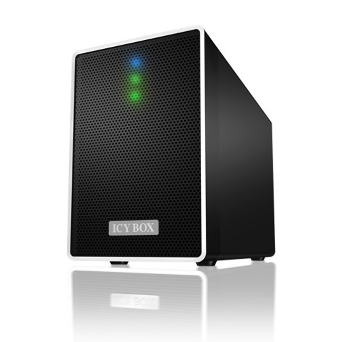 """Кутия RaidSonic Icy Box IB-RD4320StU3, за 2x 3.5""""(8.89 cm) SATA диска в RAID JBOD, RAID 0, RAID 1, USB 3.0 Type B image"""