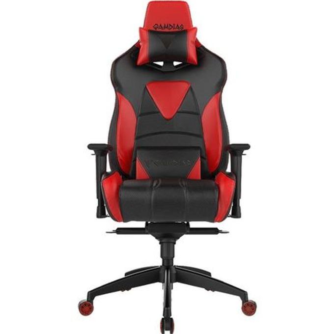 Геймърски стол Gamdias Achilles M1, черен/червен image