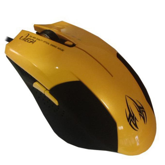 Мишка Omega 6D OPT GAMING, оптична, 2400 DPI, USB, жълта image