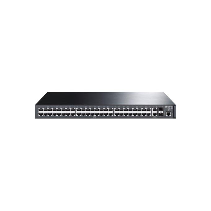 Суич TP-Link TL-SL3452, JetStream, 100Mbps, 48-Port + 4-Port Gigabit L2 image