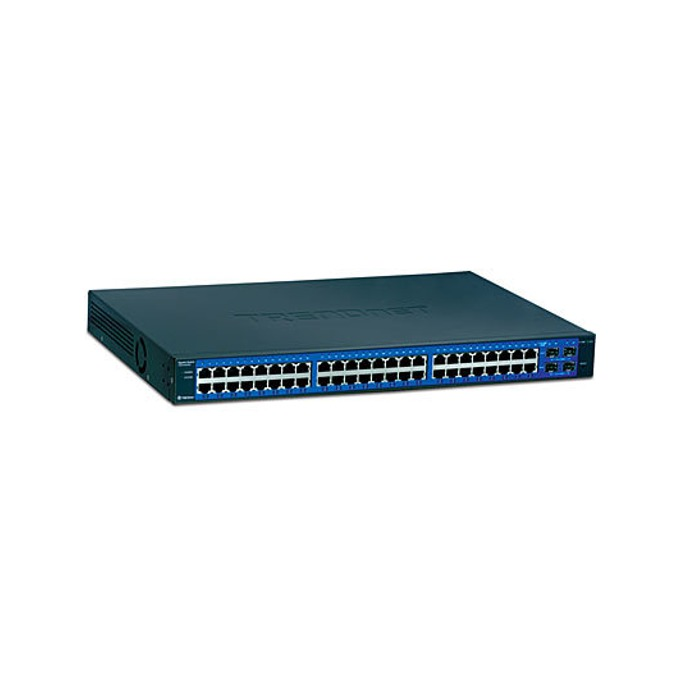 Суич TRENDnet TEG-448WS, 48 1000Mbps, 4x Shared Mini-GBIC Slots image