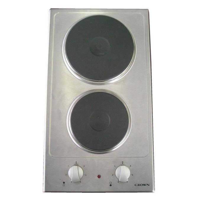 Електрически плот за вграждане Crown VE 32 IX, 2 нагревателни зони, механично управление, инокс  image
