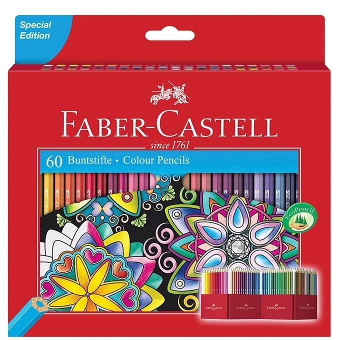 Faber-Castell моливи Замък 60 цвята