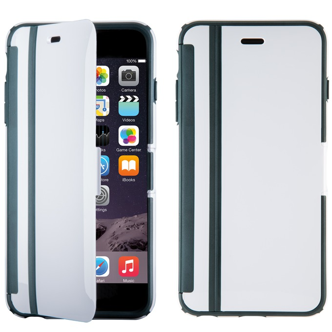 Flip cover Speck CandyShell Wrap за iPhone 6S Plus, бял/сив image