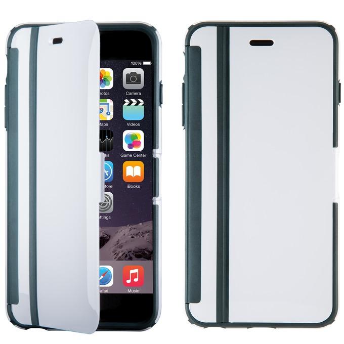 Калъф за iPhone 6S Plus, Flip cover, Speck CandyShell Wrap, бял/сив image