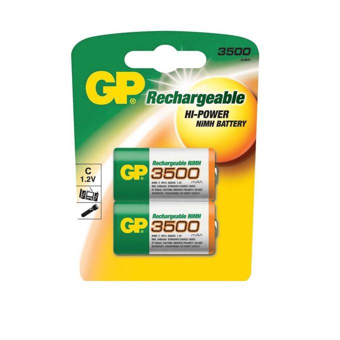 Акумулаторна Батерия GP, NiMH R14 /C/ 350CHC, 1.2V, 3500 mAh, 2 бр.в опаковка image