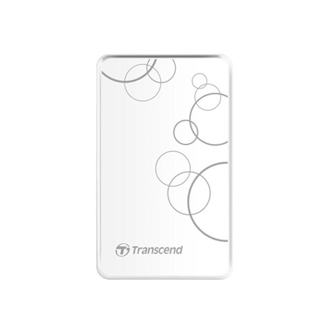 """2TB Transcend StoreJet (бял), външен, 2.5"""" (6.35 cm), USB 3.0 image"""