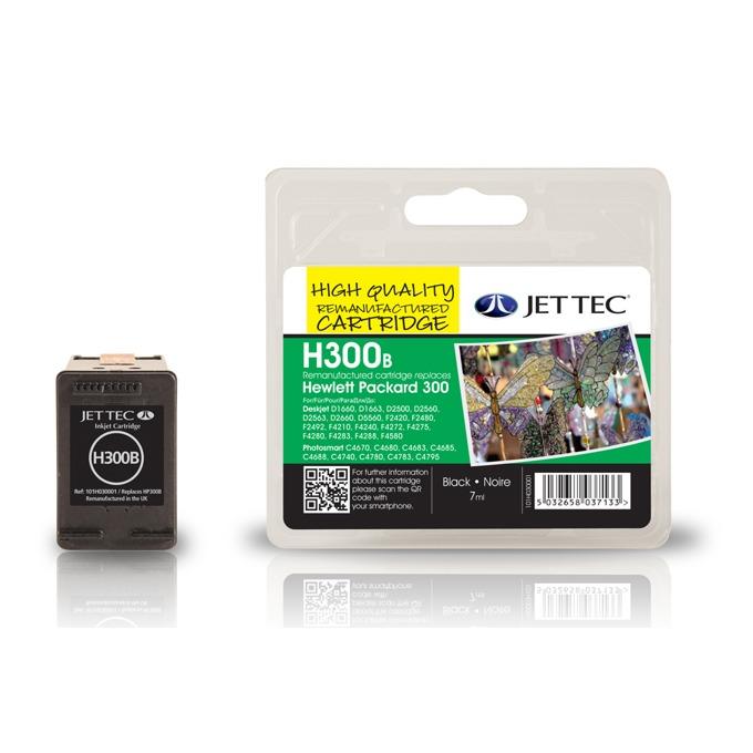 Глава за HP Deskjet D2560/ F4280-All in one - Black - CC640EE, HP300 - Неоригинална - Jet Tec - Заб.: 7 ml image