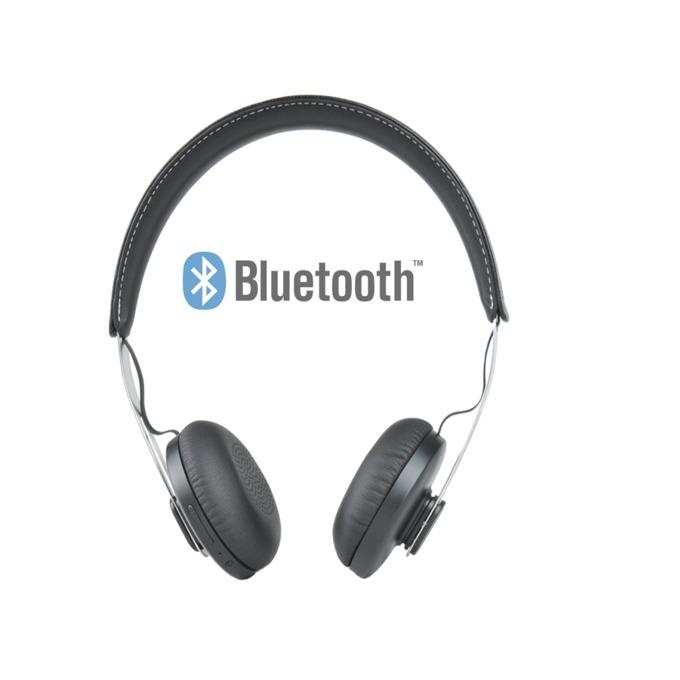 Слушалки Microlab T3, безжични, микрофон, черни image