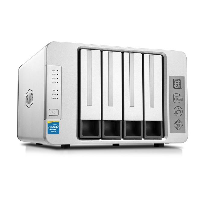 TerraMaster F4-420 (F4-420/2X2TB), четириядрен Intel Celeron J1900 2.0GHz/2.42GHz, 4 GB RAM, 2x 2TB Seagate NAS HDD, 2x RJ-45, USB 3.0, USB 2.0, Tower image