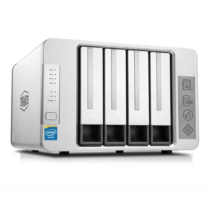 TerraMaster F4-420, четириядрен Intel Celeron J1900 2/2.42GHz, без твърд диск (4x SATA), 4GB RAM, 2x LAN1000, 1x USB 3.0 image