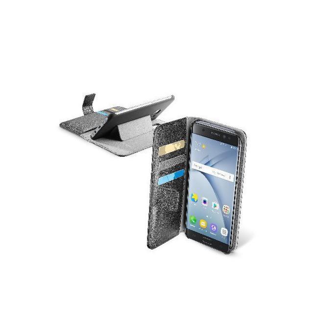 Калъф за Samsung Galaxy Note 7, отвараяем, еко кожа, Cellular Line Wallet, с джоб, сив image