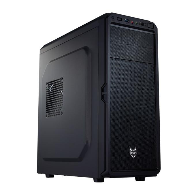 Кутия Fortron CMT110A, ATX, Micro-ATX, 2 x USB 3.0, черна, без захранване image