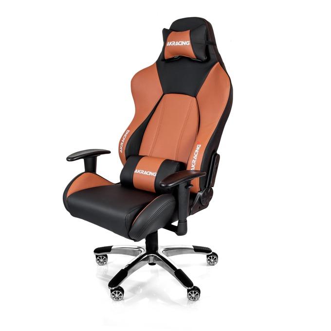 Геймърски стол AKRACING Premium V2, черно/кафяв image