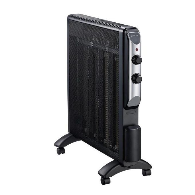Радиатор Singer Mica Compact SRMH-25, 2 степени на температура, 2500W, черен image