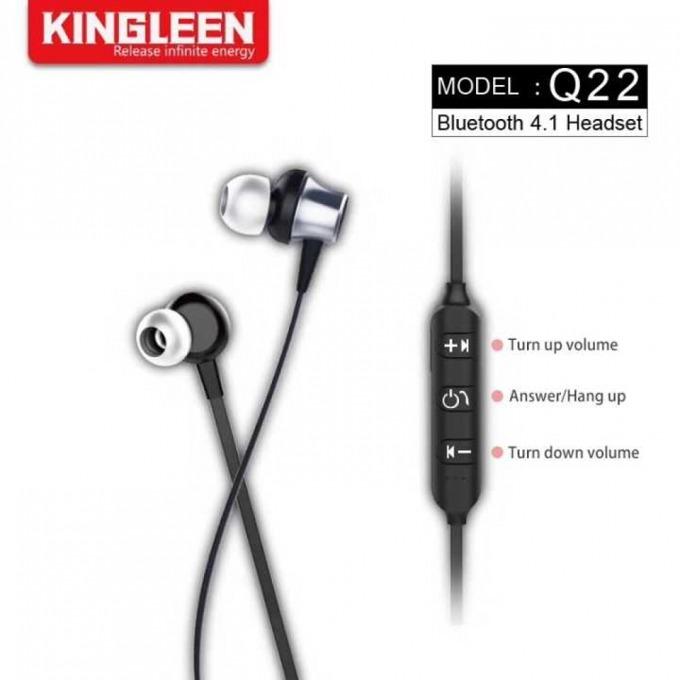 Слушалки Kingleen Q22, безжични, микрофон, Bluetooth, черни image
