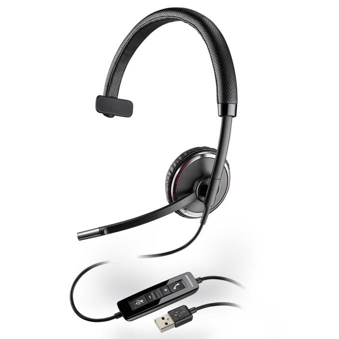 Слушалки Plantronics Blackwire C510, жични, шумоизолиращ микрофон, DSP, USB, черни image