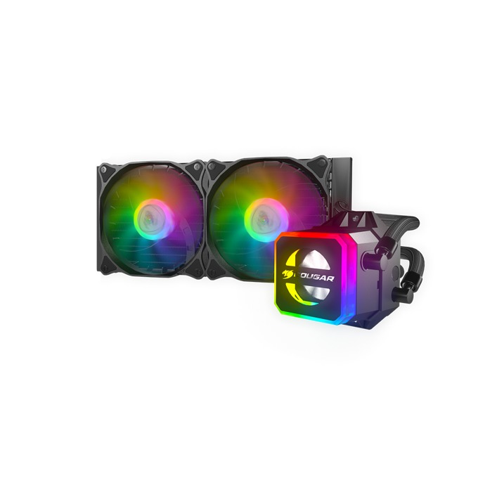 Водно охлаждане за процесор Cougar Helor 240, съвместимост със Intel 775, 1150, 1151, 1152, 1155, 1156, 1366, 2011, 2011-3, 2066 & AMD AM4, AM3+, AM3, AM2+, AM2, FM2+, FM2, FM1 image