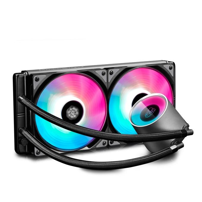 Водно охлаждане за процесор DeepCool Castle 280 ADD-RGB, съвместимост със сокети Intel LGA 1156/1155/1151/1150/2066/2011-3/2011-0/1366 & AMD TR4/AM4/AM3+/AM3/AM2+/AM2/FM2+/FM2/FM1 image