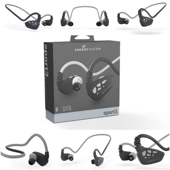 Слушалки Energy Sistem Earphones Sport 3, безжични, микрофон, Bluetooth, сребристи image