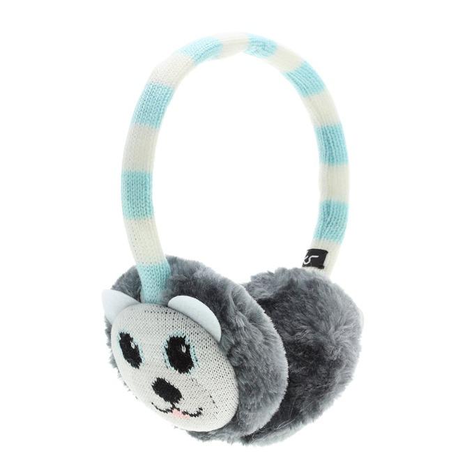 Слушалки KitSound Polar Bear Earmuffs, синьо-бели, с ушанки image