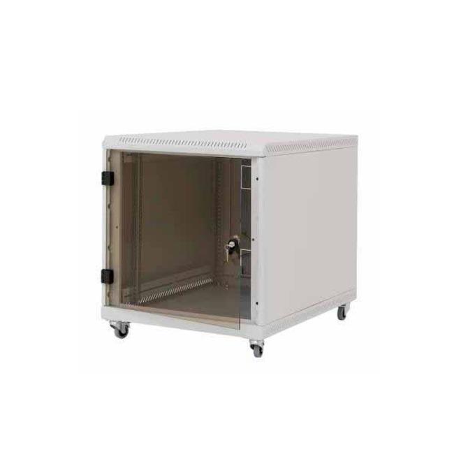"""Комуникационен шкаф Triton RCA-12-L61-CAX-A1, 19"""", 12U, 600 x 1000 x 620 мм, предна стъклена врата, IP20 защита, сив image"""