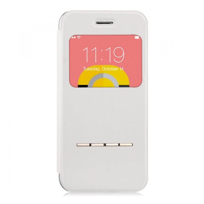 Калъф за Apple iPhone 6/6S, отваряем с прозорче, поликарбонат, Devia Active Folder, бял image