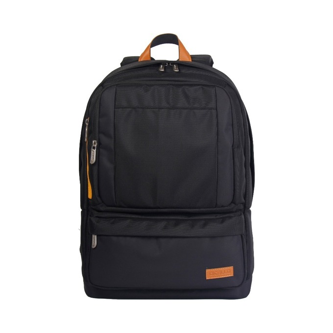 "Раница за лаптоп Dicallo LLB9303-17, до 17.3"" (43.94 cm), полиестер, черна-оранжева image"