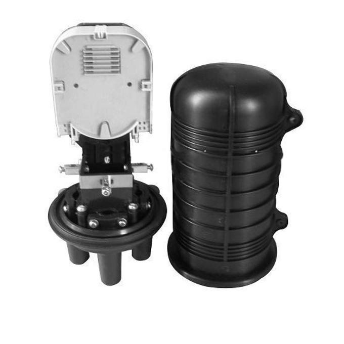 Муфа SeaMAX GPJ-08V4M, 24 оптични влакна, 3 кръгли порта и 1 голям овален порт, подземно или директно полагане image