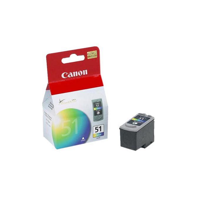 ГЛАВА CANON PIXMA iP 2200/6210D/6220D/ MP 150/170/450 - Color ink cartridge - CL-51 - заб.: 3x7ml. image