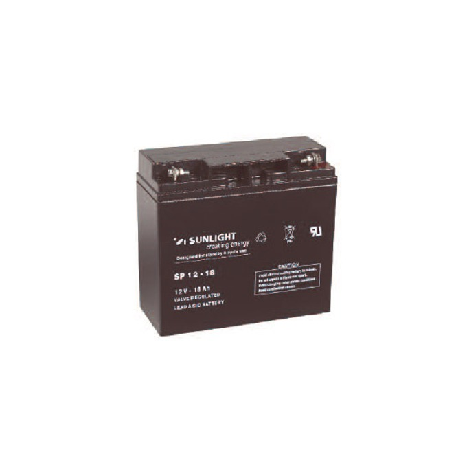 Акумулаторна батерия Sunlight SP 12-18, VRLA, 12V, 18Ah image