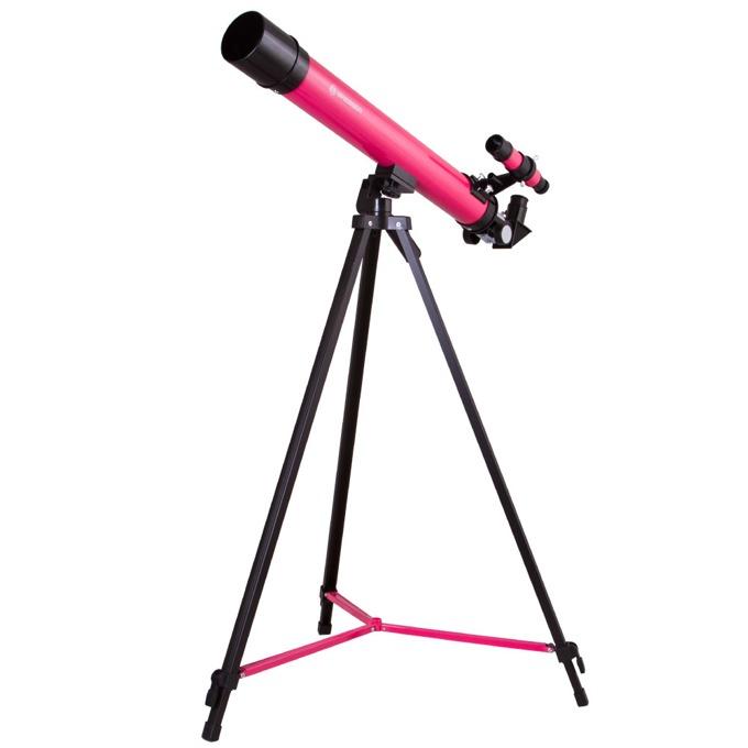 Телескоп Bresser Junior Space Explorer 45/600 AZ, 50-100x оптично увеличение, розов image