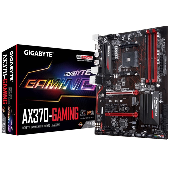 Дънна платка Gigabyte GB AX370-GAMING, X370, AM4, DDR4, PCI-E (HDMI), 8x SATA 6Gb/s, 1x M.2 Socket, 2x USB 3.1 Gen 2, ATX image