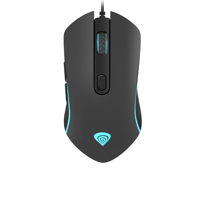 Мишка Genesis Krypton 150, оптична (2400dpi), USB, черна, подсветка с 7 цвята image