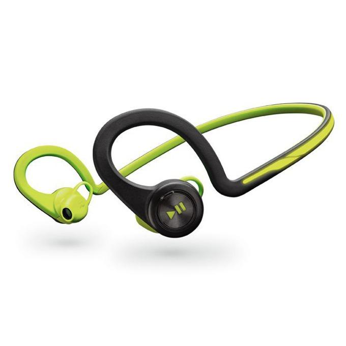 Слушалки Plantronics Backbeat FIT, безжична, микрофон, водоустойчиви, зелен/черен image