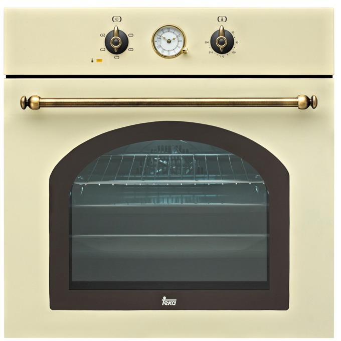 Фурна за вграждане Teka HR 550, 65л. обем, 5 програми, ретро дизайн, охлаждаща система с вентилатор и сместителна камера, енергиен клас А, бежова image