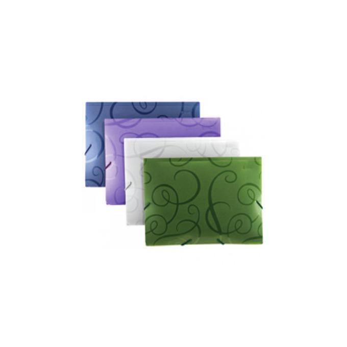 Папка Centrum Arabesque, за документи с формат до А4, с ластик и три капака, различни цветов image
