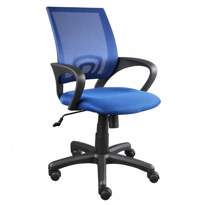 Офис стол KIDO, тип Mesh, подлакътници, люлеещ механизъм, газов амортисьор, син image