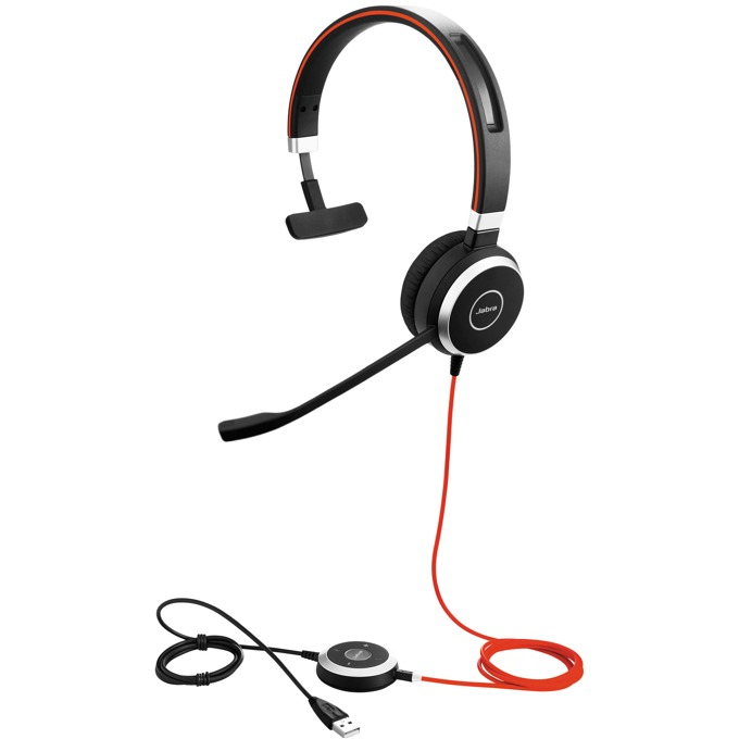 Слушалки Jabra Evolve 40 MS Mono, микрофон, USB/3.5mm жак, черни image